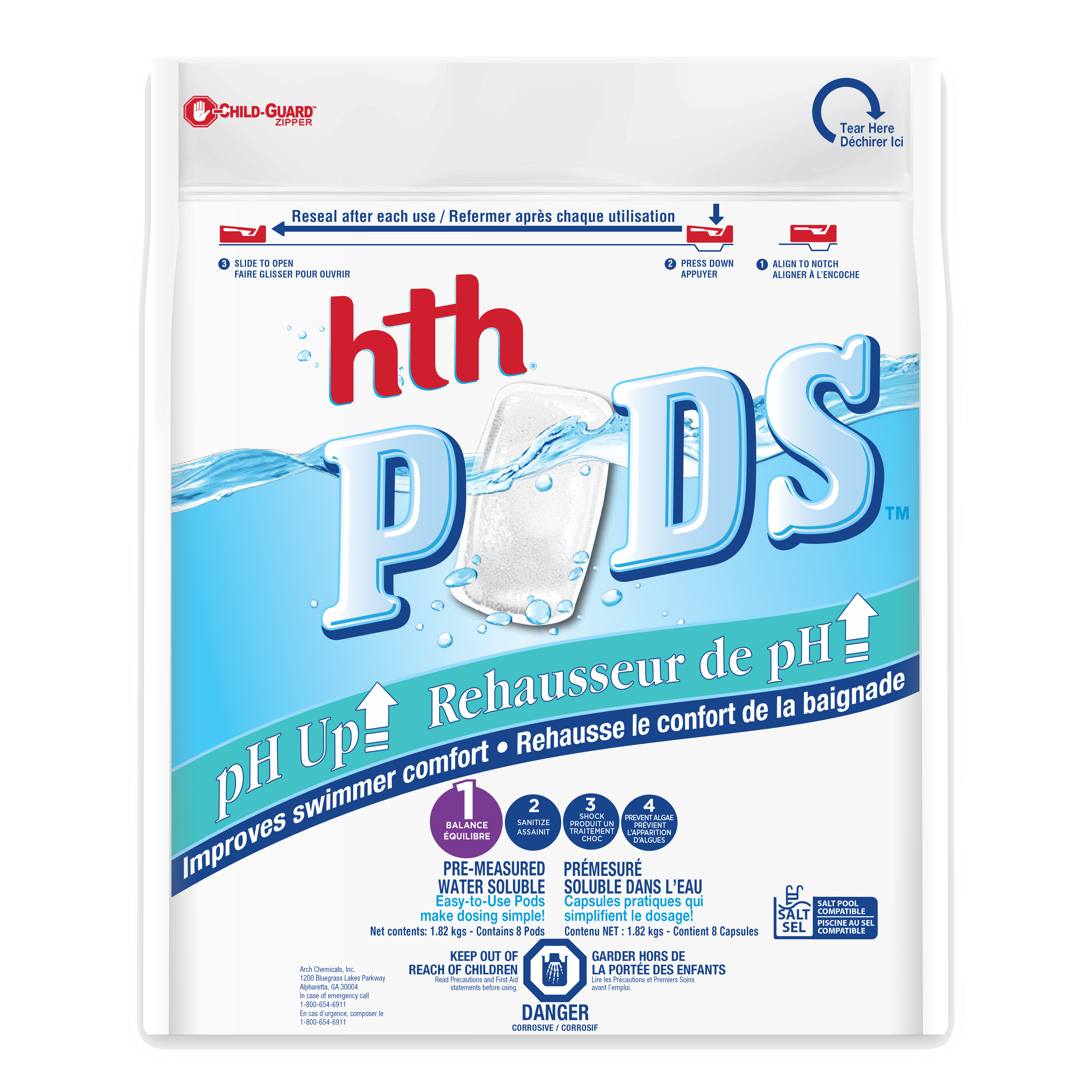 HTH pH Up Pods front image